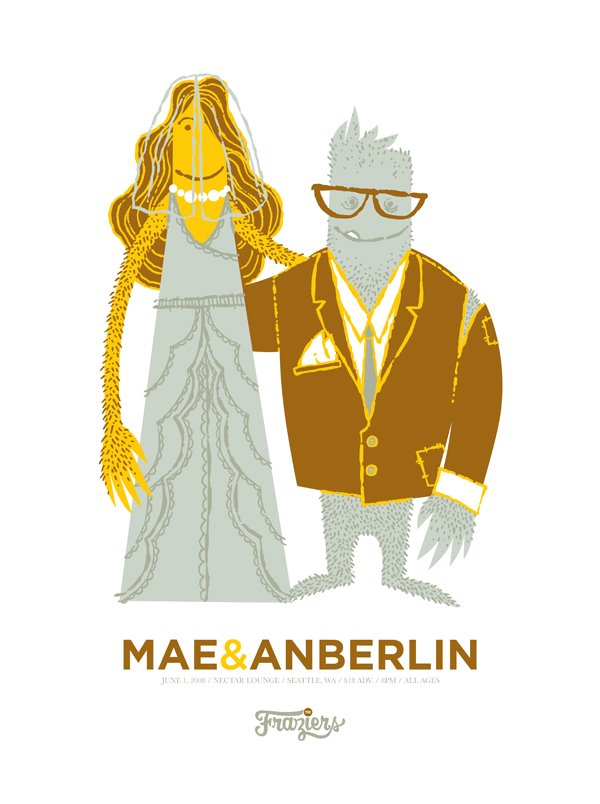 Mae/Anberlin Silk-Screened Show Poster