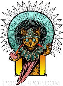 'Aztec Kitty' sticker