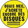 Guerilla Asso - badge jachete des disques