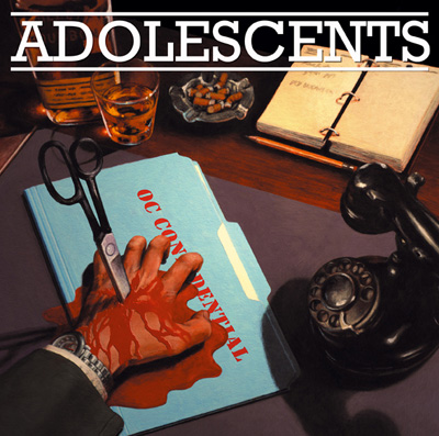 THE ADOLESCENTS 'Oc Confidential' Solid blue LP