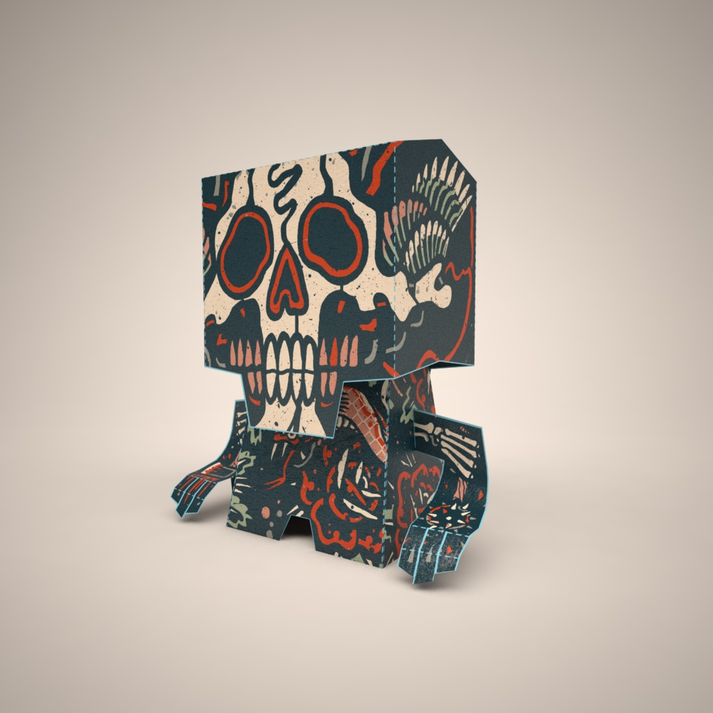 Custom Artist Record Toppers (Sugar Skull)