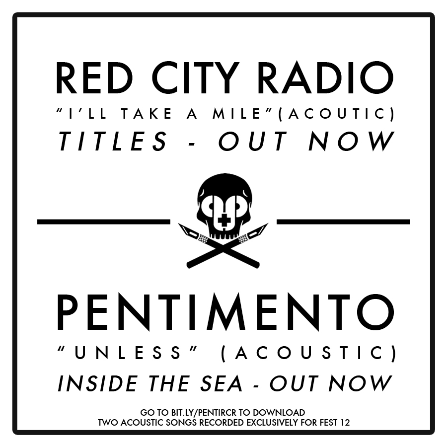 Free Fest 12 Download: Pentimento / Red City Radio Acoustic Singles