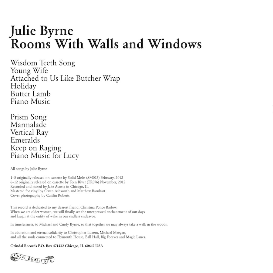 Julie Byrne Rooms With Walls And