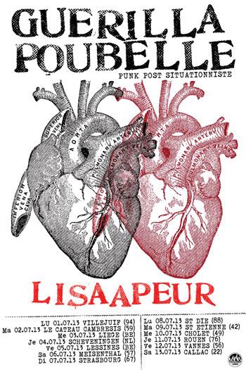 Guerilla Poubelle - poster summer tour 2013 + lisaapeur