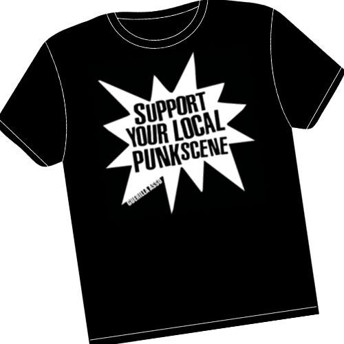 Guerilla Asso - tshirt Support your local punk scene