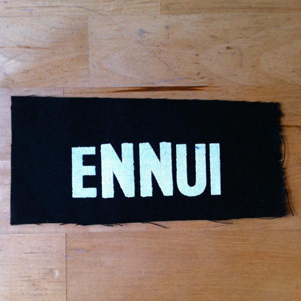 Guerilla Poubelle - patch Ennui