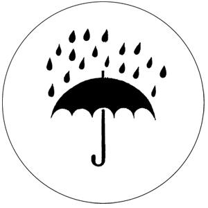 Guerilla Poubelle - badge parapluie