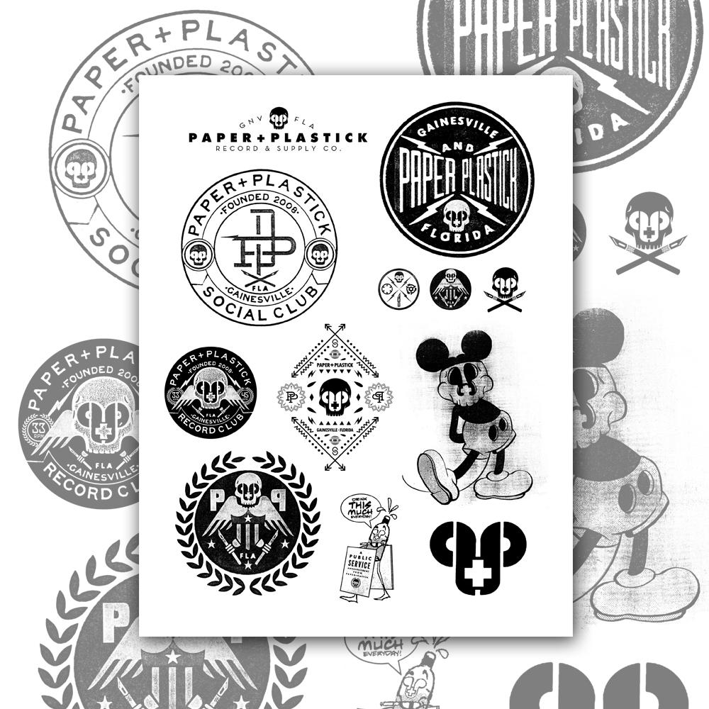 The Complete P+P DIY Sticker Set