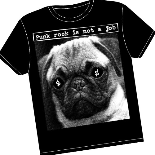 Guerilla Asso - Tshirt punk rock is not a job (PUG)