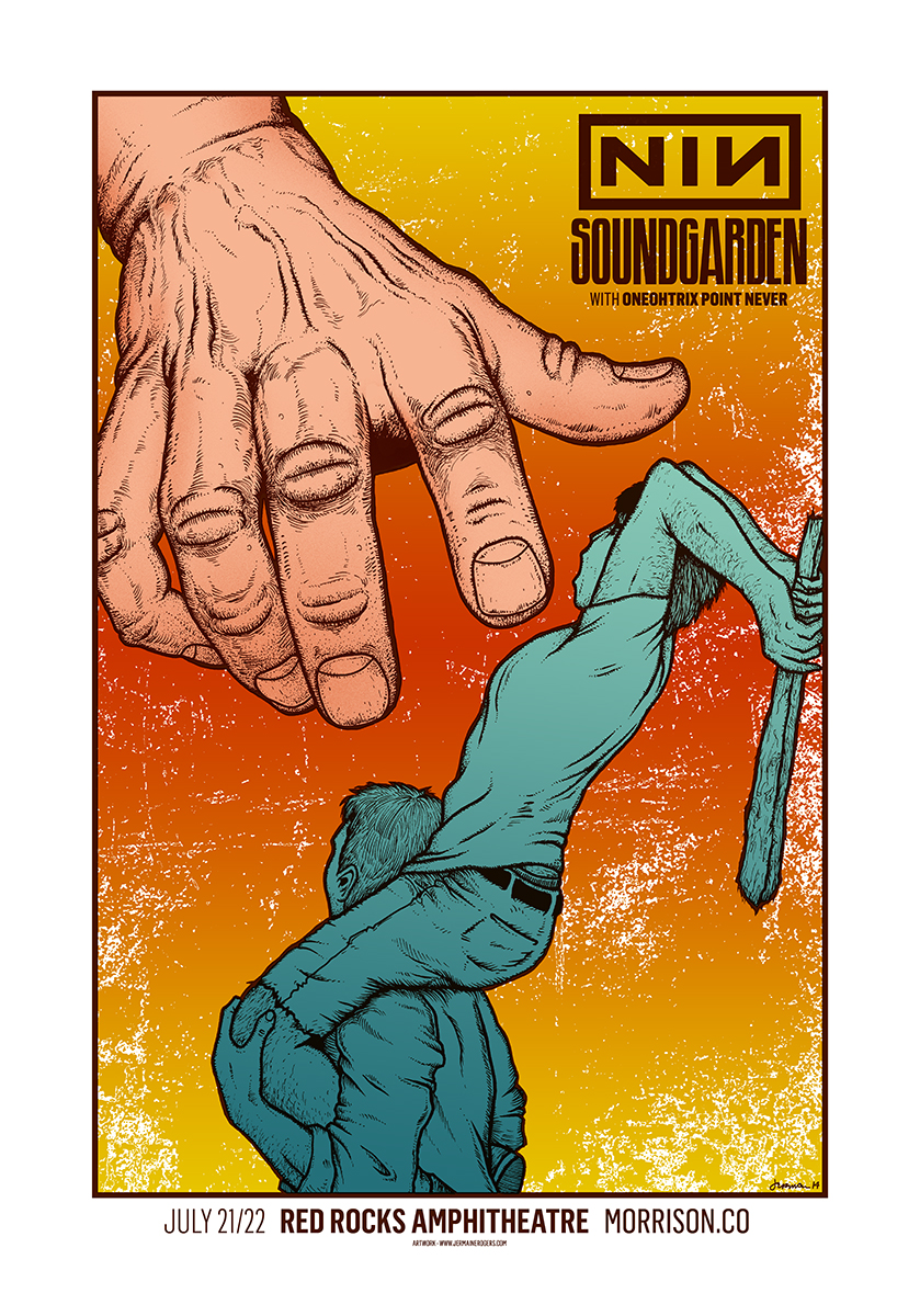 NINE INCH NAILS / Soundgarden (Red Rocks 2014) WARM Variant - A/P COPIES AVAILABLE