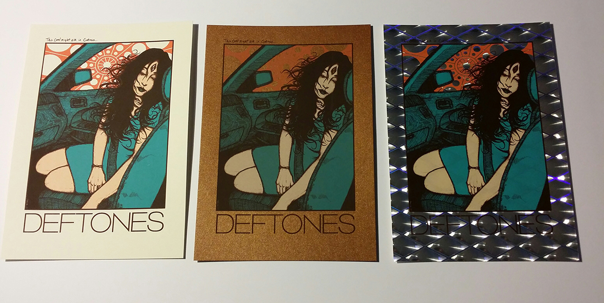 DEFTONES 'Passenger' (FLESH) HANDBILL Mini Art Print (ALL VARIANTS)