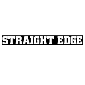 Straight Edge Black and White Sticker