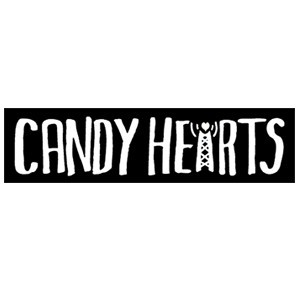 Candy Hearts 'Logo' Sticker