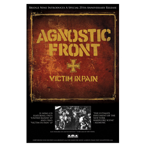 Agnostic Front 'Victim In Pain' Poster