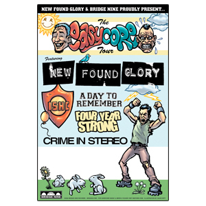 New Found Glory 'Easy Core Tour' Poster