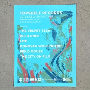 Topshelf Records 2015 SXSW Showcase Poster