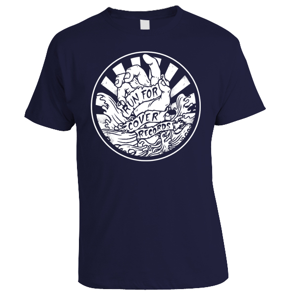 Run For Cover - Hand Shirt (White on Navy)