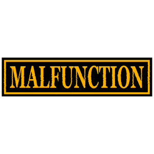 Malfunction 'Yellow Logo' Sticker