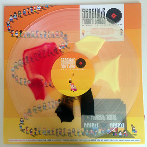 SENSIBLE RECORD LABELS Hand-pressed unique 'black/red/yellow crush' LP