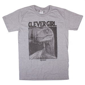 Alcopop Clever Girl T-Shirt - Grey