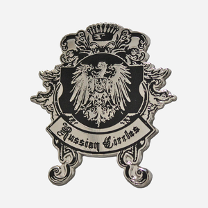 Russian Circles - Black & Silver Enamel Pins