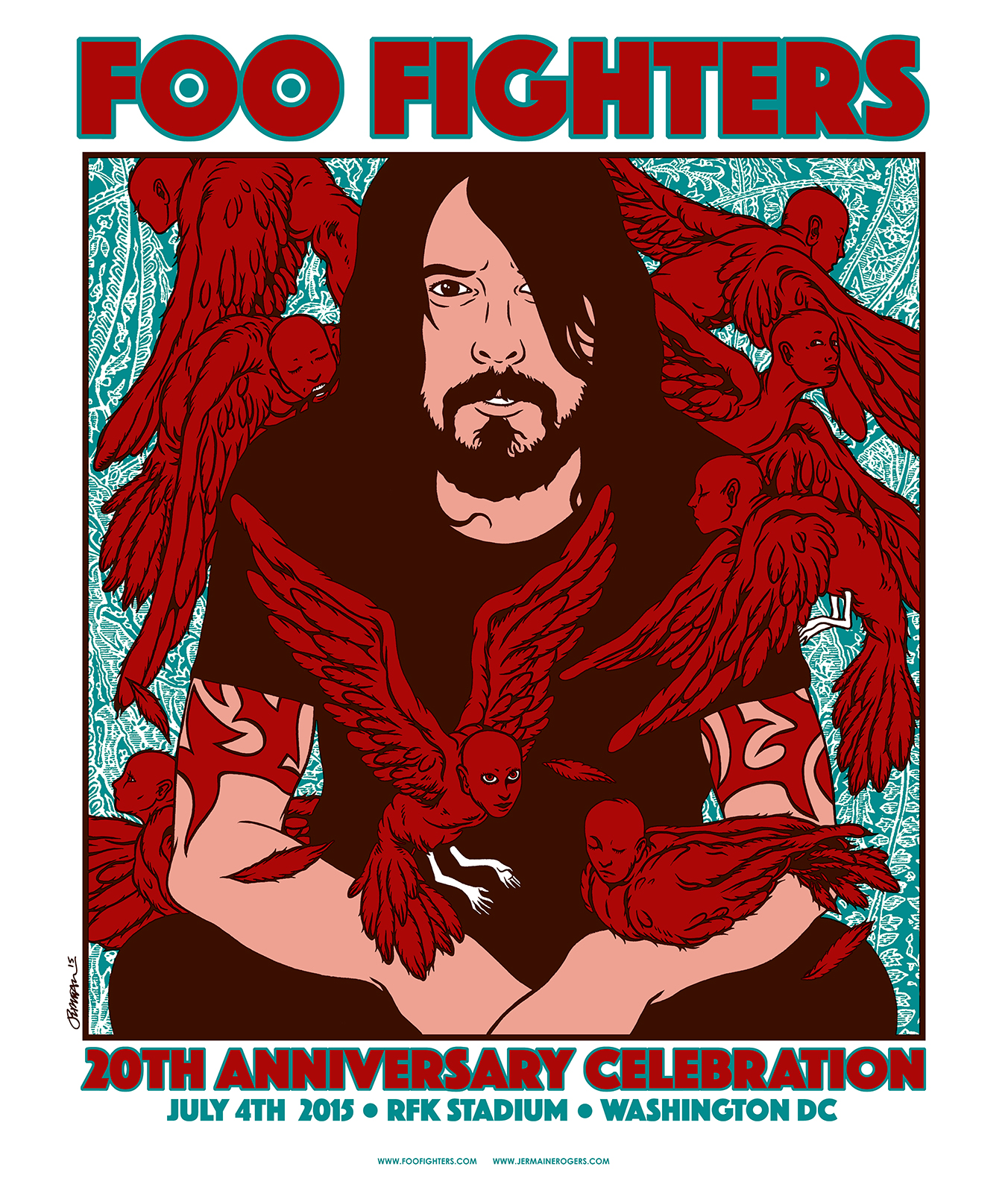 Rare FOO FIGHTERS 20th Anniversary Show Print