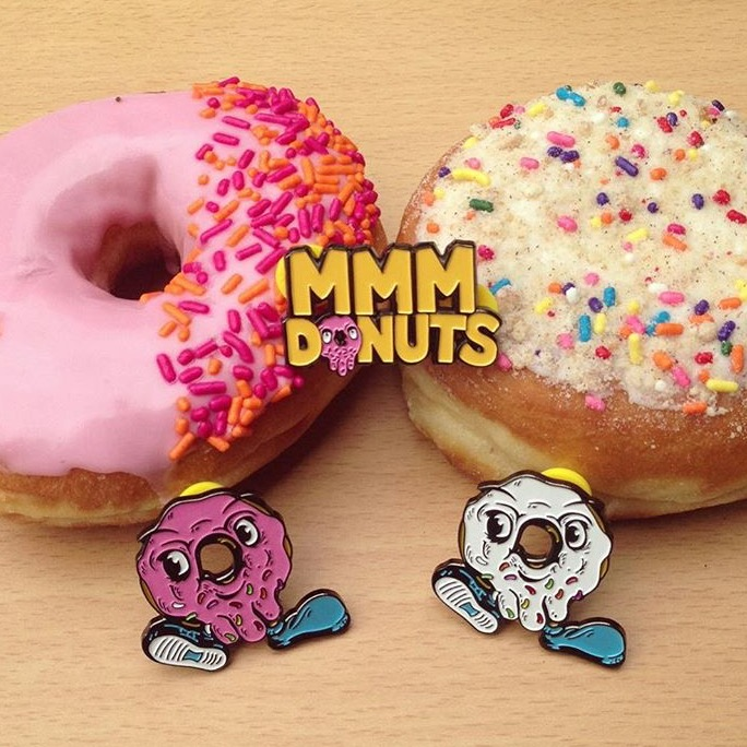 MMM Donuts Enamel Pins