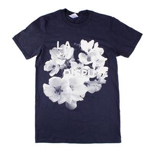 White Flowers - Navy T-Shirt