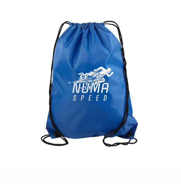 Blue Draw String Bag