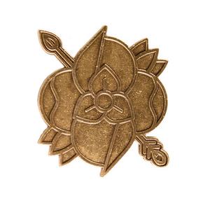 Flower Arrow - Antique Gold Pin