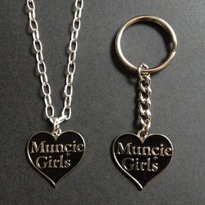 Muncie Girls - Enamel Heart Keyring / Necklace