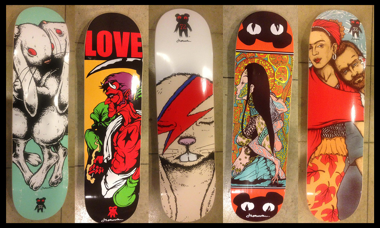 *New* Jermaine Rogers SKATE DECKS (NEW Series 2 - plus, some SERIES 1 available!)