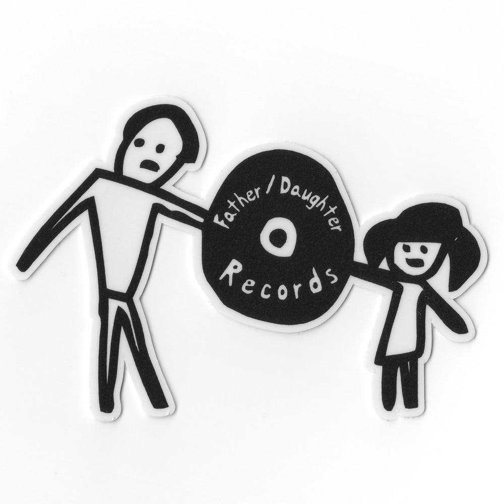 Fatherdaughter Records Fatherdaughter Die Cut Sticker