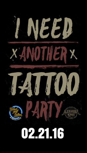 I need another tattoo party-Nashville 02/21 Deposit
