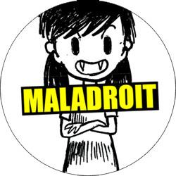 Maladroit - Badge vampire girl