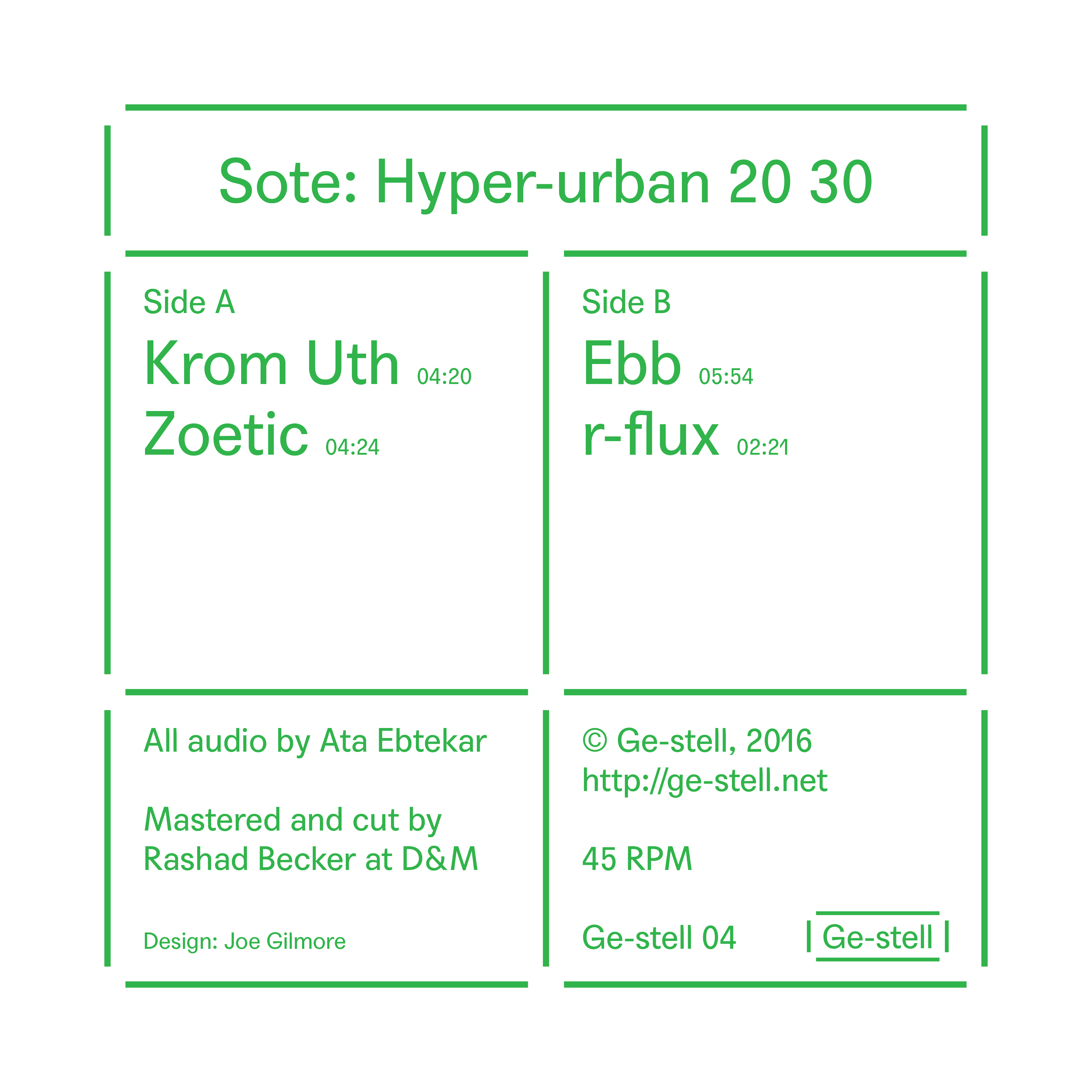 Sote - Hyper-urban 20 30 (EP)