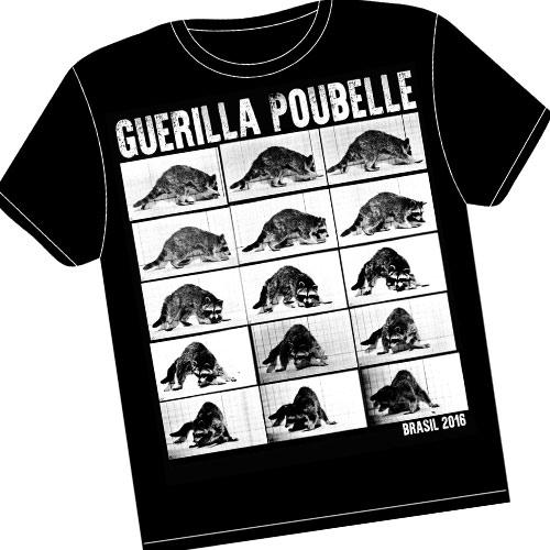 Guerilla Poubelle - Tshirt Brasil Tour