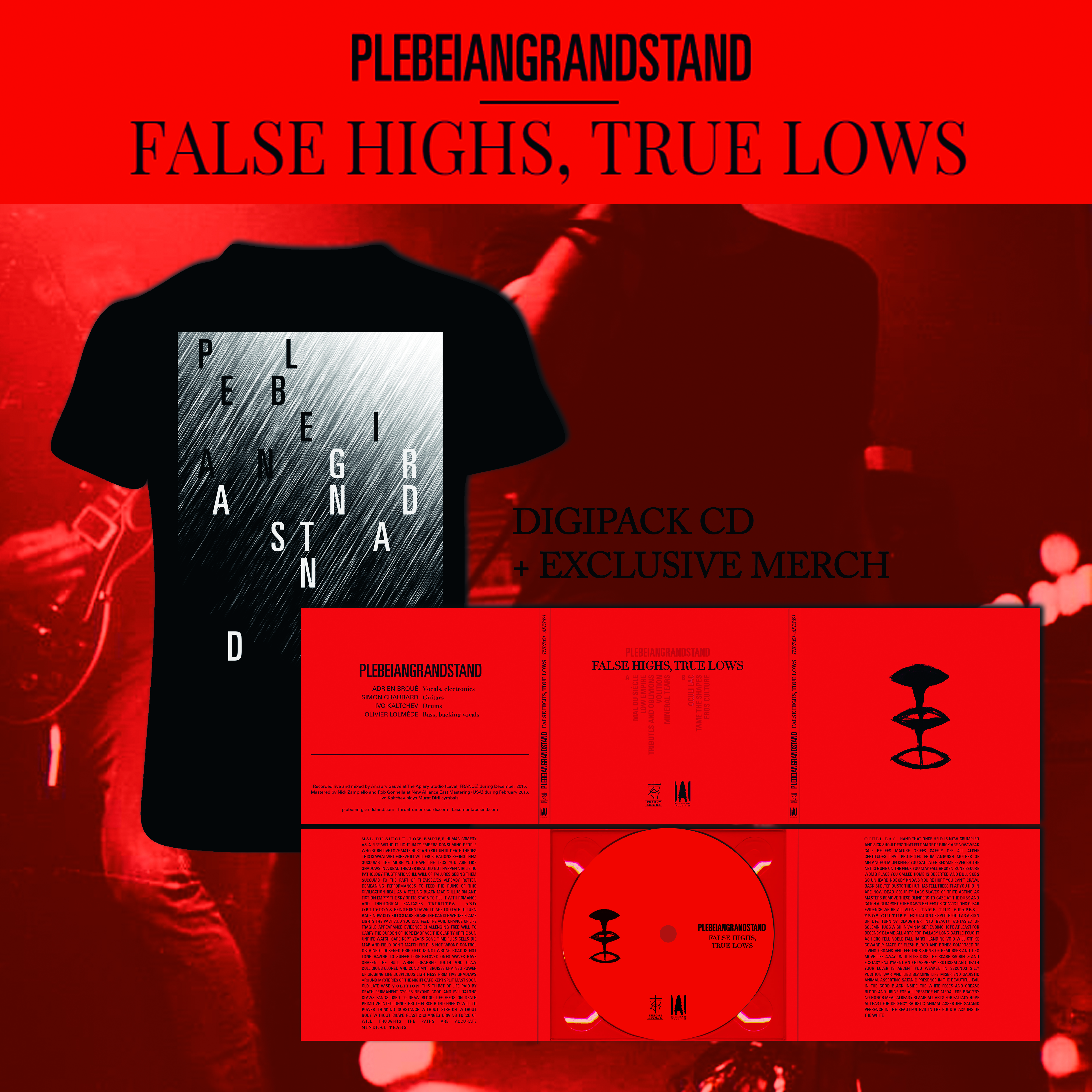 PLEBEIAN GRANDSTAND False Highs, True Lows Digipack CD