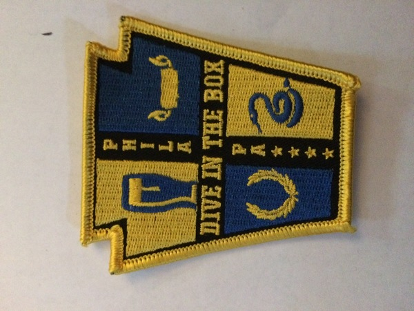 Dive in the Box Embroidered Patch