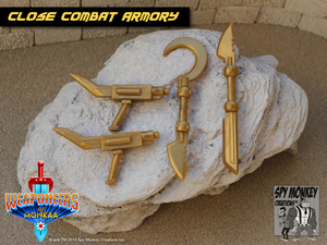 Weaponeers of Monkaa - Gold Close Combat Armory