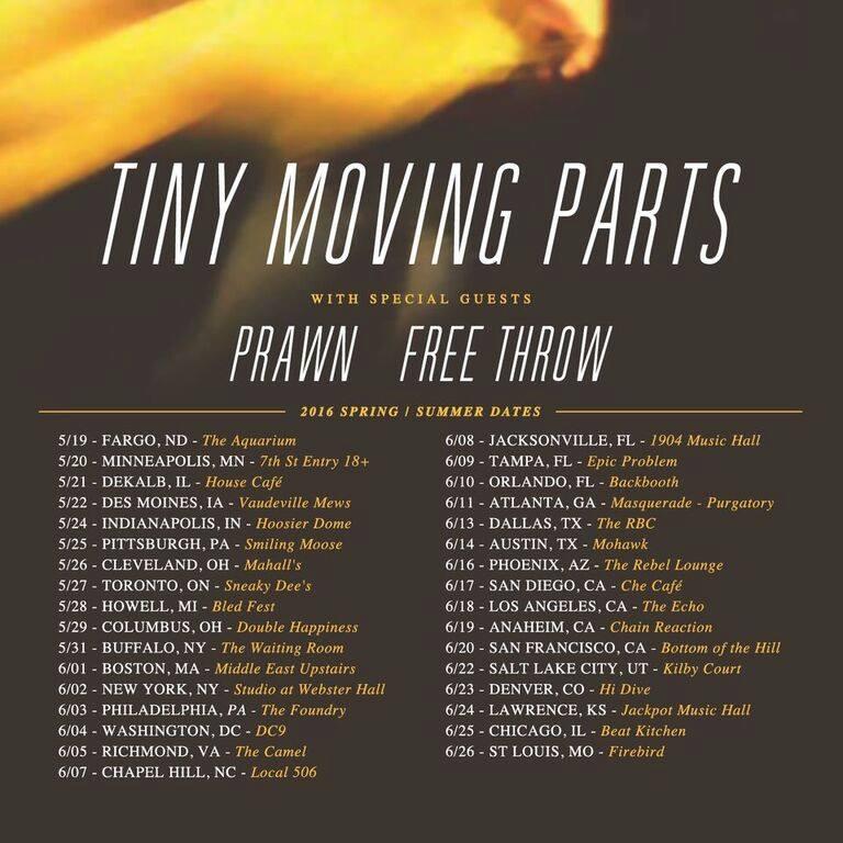 Topshelf Records News Prawn Us Tour With Tiny