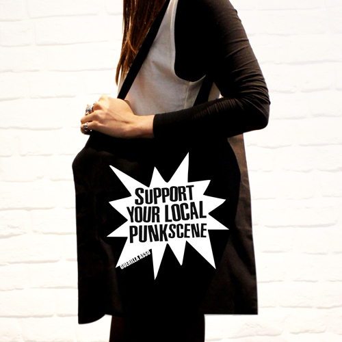 Support Your Local Punk Scene - sac / tote bag - Guerilla Asso
