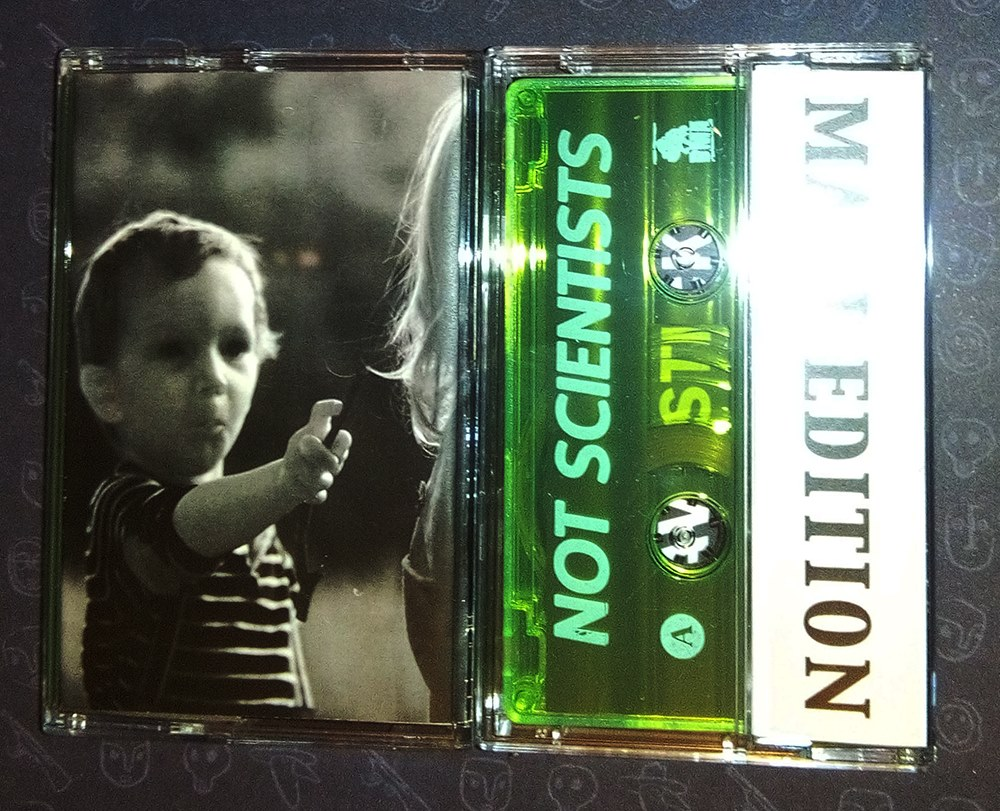 Not Scientists - leave stickers on our graves REISSUE