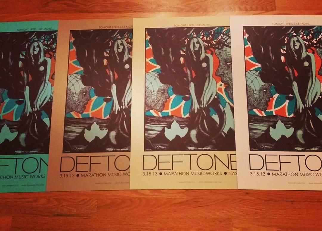 DEFTONES (Nashville 2013) RARE VARIANTS!