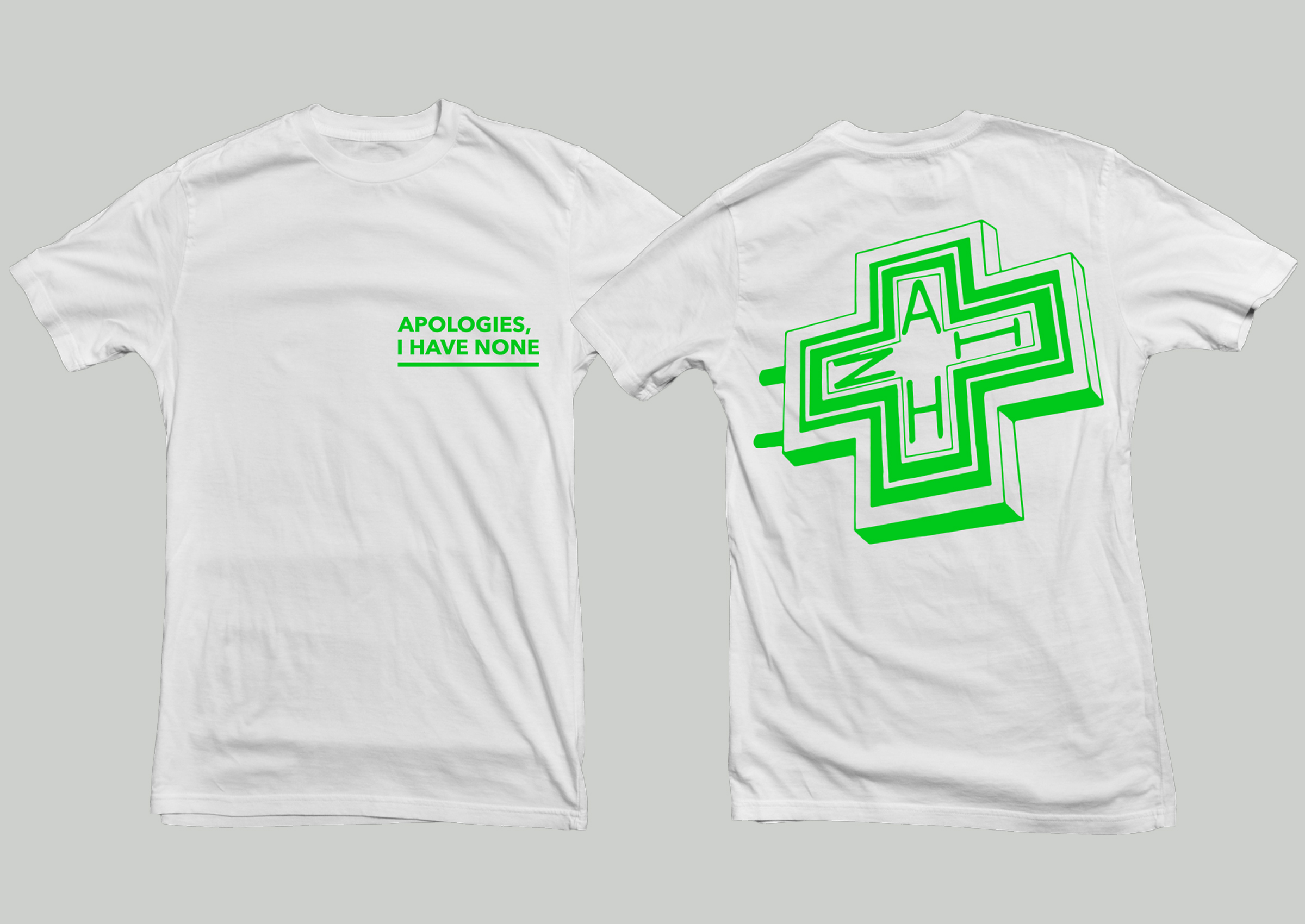 Apologies, I Have None - 'Pharmacie' shirt