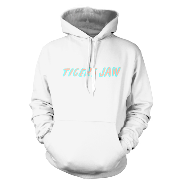 Tigers Jaw - Wolves Hoodie Sweatshirt (White)