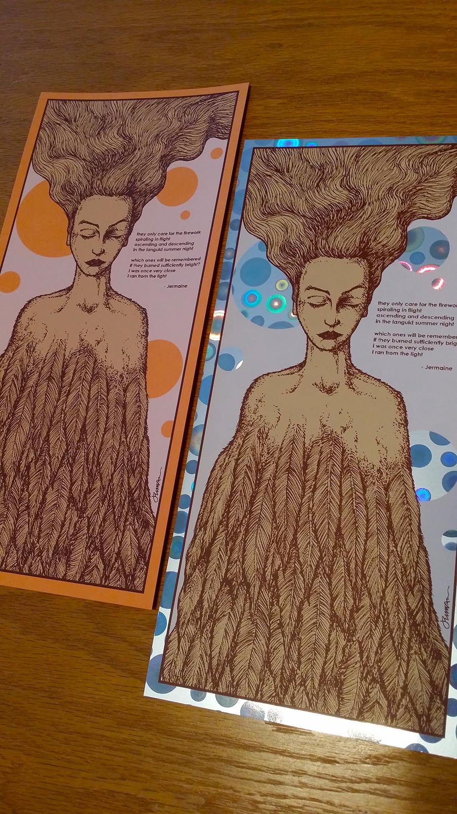*New* 'Wane' Mini Art Print (WITH VARIANTS)
