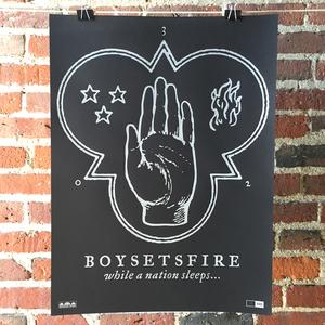 Boysetsfire 'While A Nation Sleeps' Screenprinted Poster