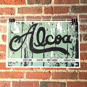 Alcoa 'Parlour Tricks B9 Warehouse Show' Screenprinted Poster