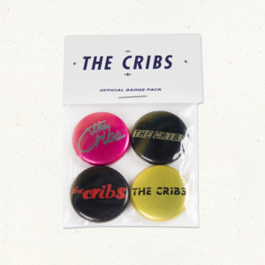 The Cribs Official Badge Pack